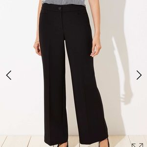 Loft Wide Leg Black Trouser